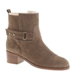 J. Crew Parker Shearling Lined Suede Ankle Boots